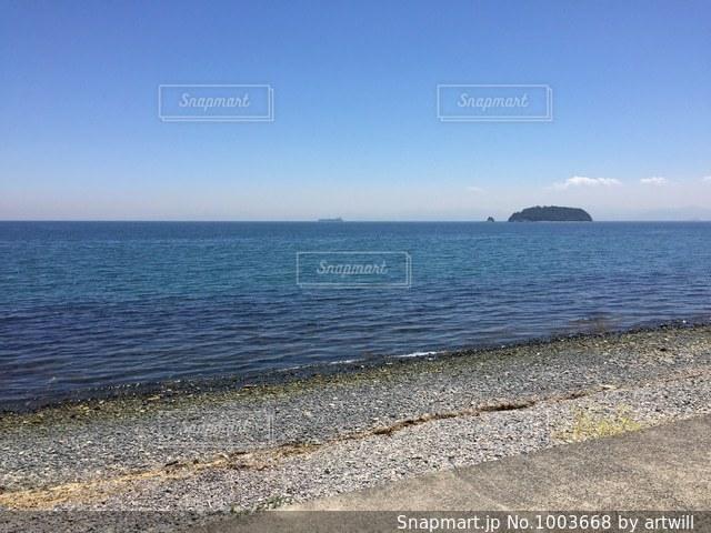 小豆島の海岸の写真・画像素材[1003668]