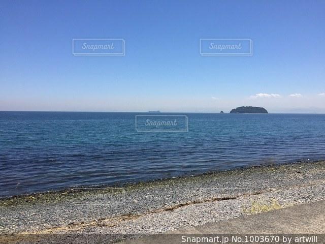 小豆島の海岸の写真・画像素材[1003670]
