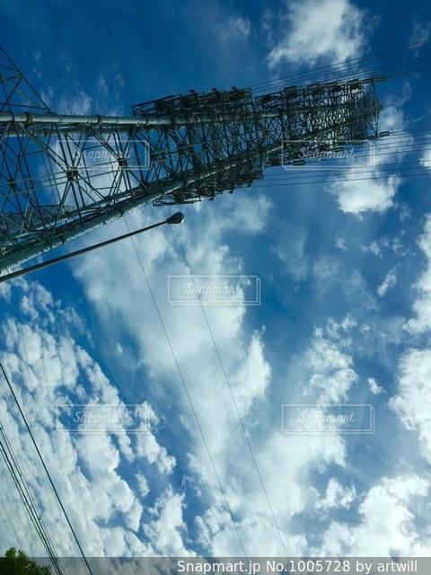 空と鉄塔の写真・画像素材[1005728]