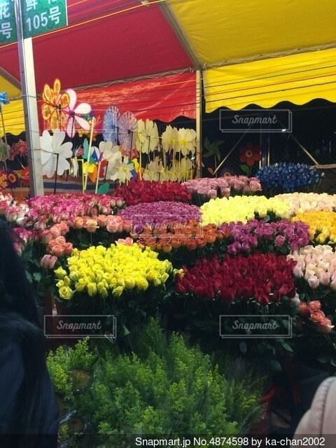 中国・花市の写真・画像素材[4874598]