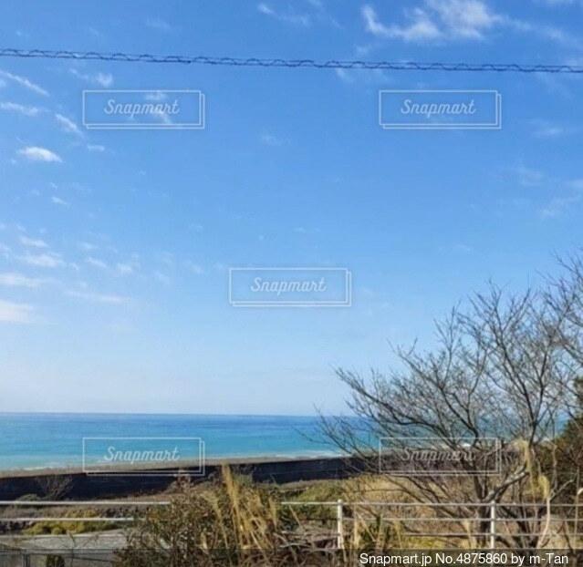 窓から眺めたいつもの海の写真・画像素材[4875860]