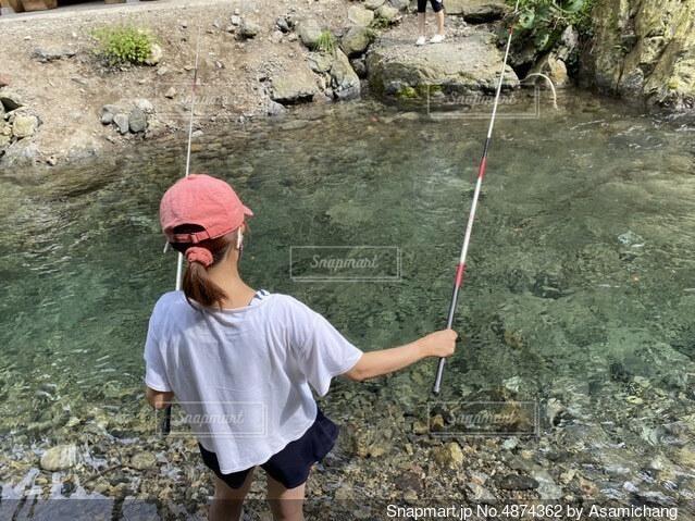 川釣りの写真・画像素材[4874362]