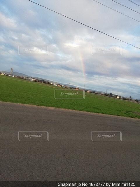 虹のクローズアップの写真・画像素材[4872777]