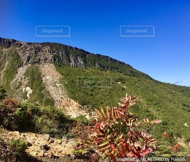 百名山 登山の写真・画像素材[4873493]