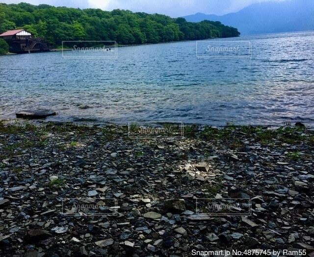 湖のほとりの写真・画像素材[4875745]
