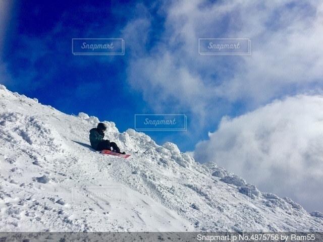 雪山山頂の写真・画像素材[4875756]
