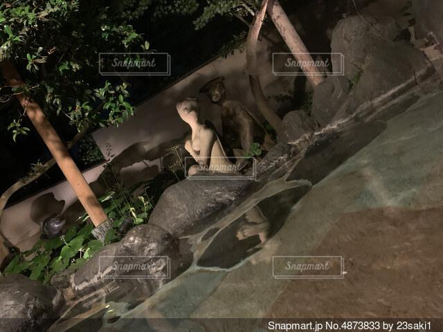 温泉に行った時の一コマの写真・画像素材[4873833]