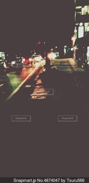 ある町の夜景の写真・画像素材[4874047]