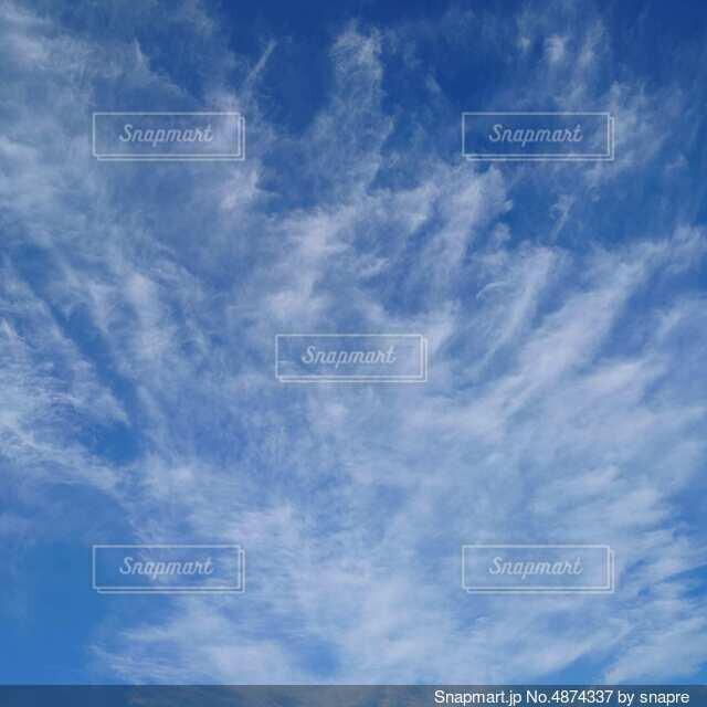 すじ雲の写真・画像素材[4874337]
