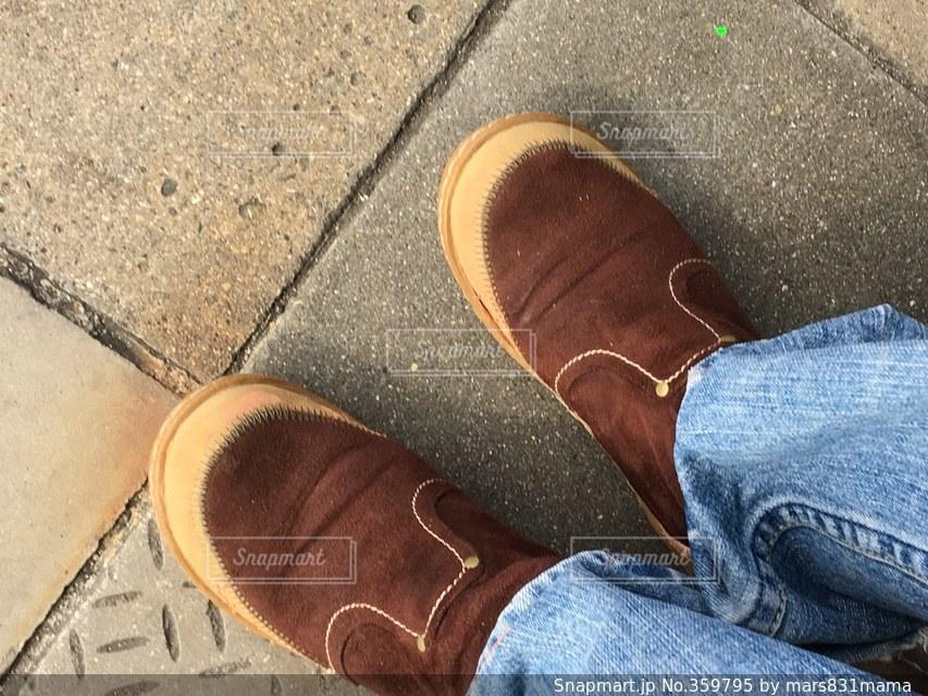 自撮り,ジーンズ,ブーツ,茶色のブーツ,履き慣れたブーツ,お気に入りのブーツ