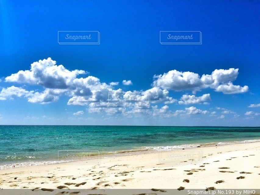海の横にある砂浜のビーチの写真・画像素材[193]