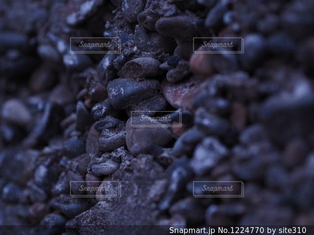 壁に埋め込まれた石の写真・画像素材[1224770]