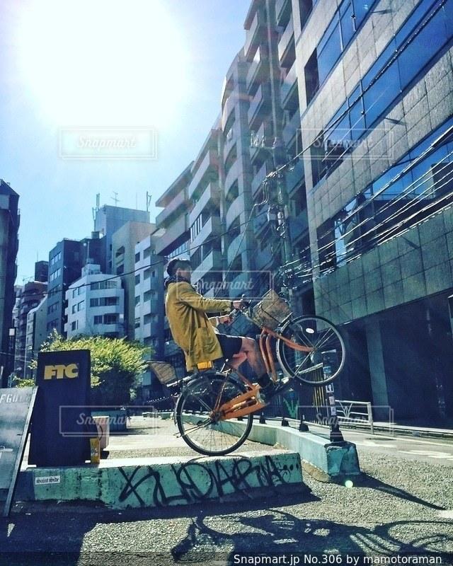 路上駐車自転車 - No.306