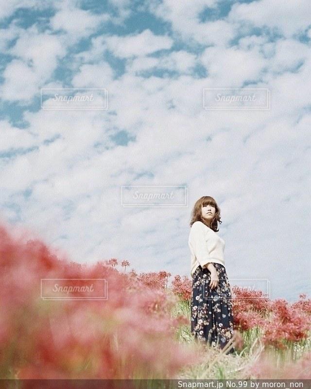 草の上に乗って男カバー フィールドの写真・画像素材[99]