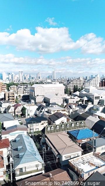 都市のトップ ビューの写真・画像素材[740869]