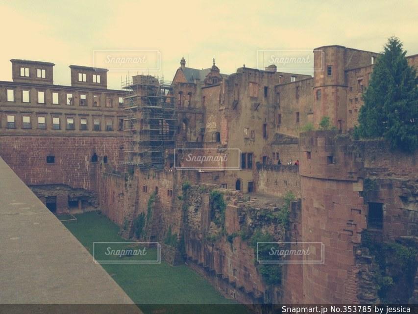風景,建物,城,ヨーロッパ,石畳,ドイツ,欧州,冒険,廃屋