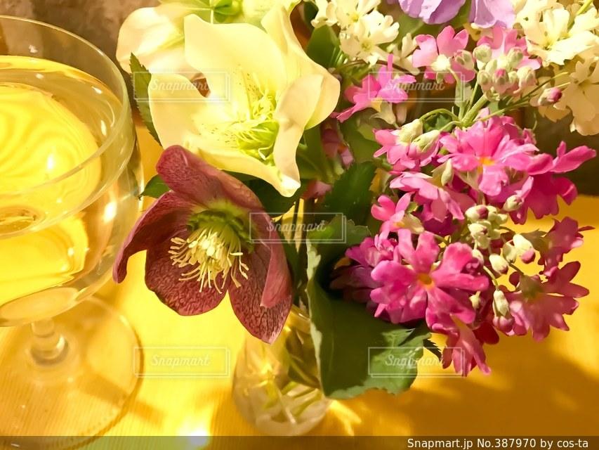花,パーティ,テーブルフォト,ホームパーティ