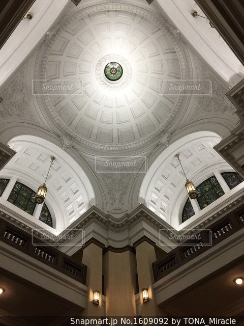 上野の国立科学博物館の天井の写真・画像素材[1609092]