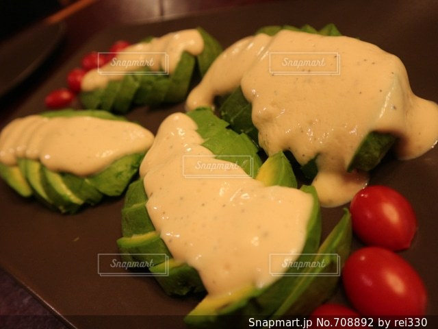 アボカドの豆腐ソースの写真・画像素材[708892]