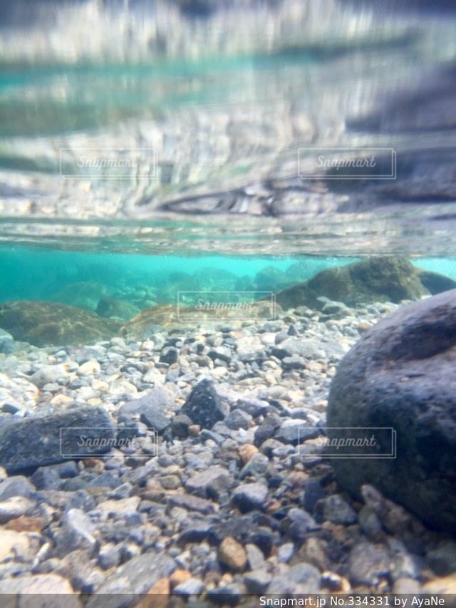 水中の景色の写真・画像素材[334331]