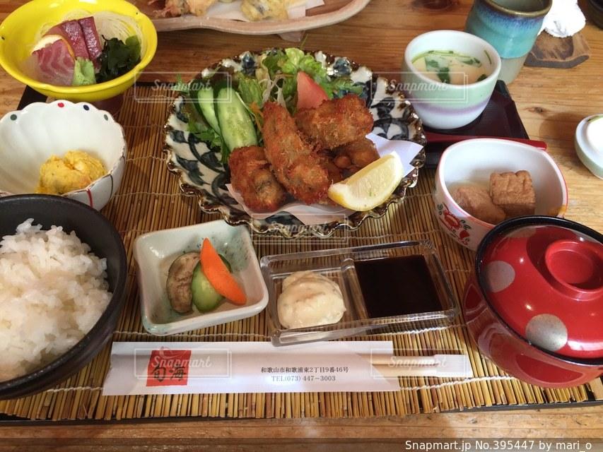 ランチ,和食,定食,カキ,カキフライ,牡蠣フライ