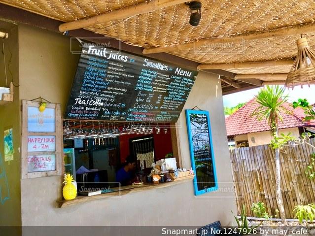 バリ、ヌサペニダ島のカフェ。の写真・画像素材[1247926]