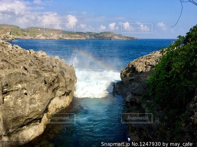 撮影地→バリ、ヌサペニダ島のAngel Billabong(エンジェル・ビラボン)の写真・画像素材[1247930]