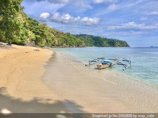 海とボートの写真・画像素材[2952808]