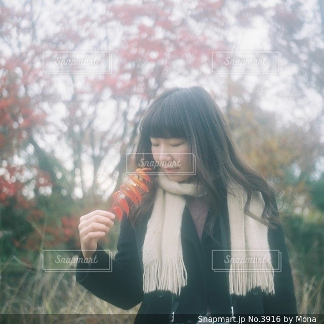 秋と女性のの写真・画像素材[3916]