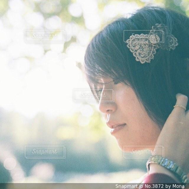 女性の横顔のの写真・画像素材[3872]