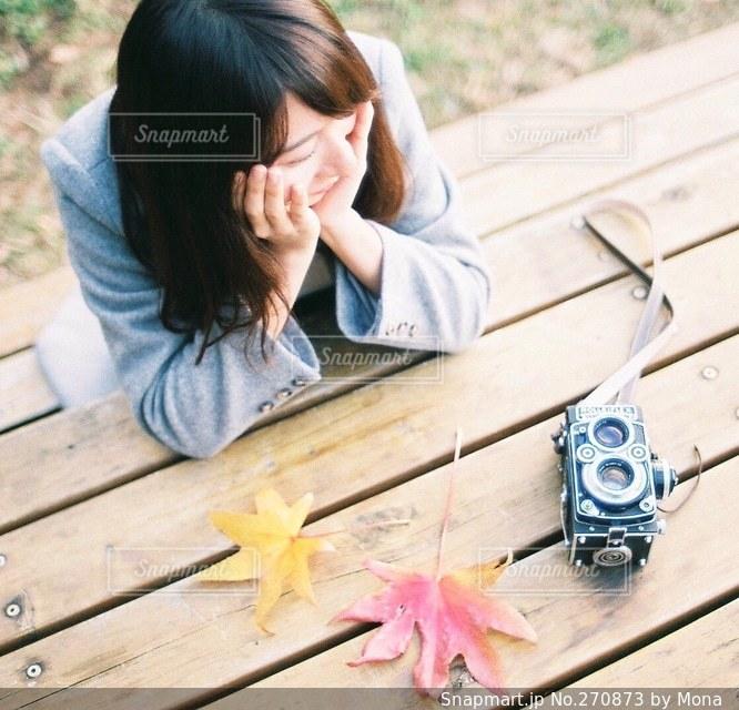 カメラ女子の写真・画像素材[270873]
