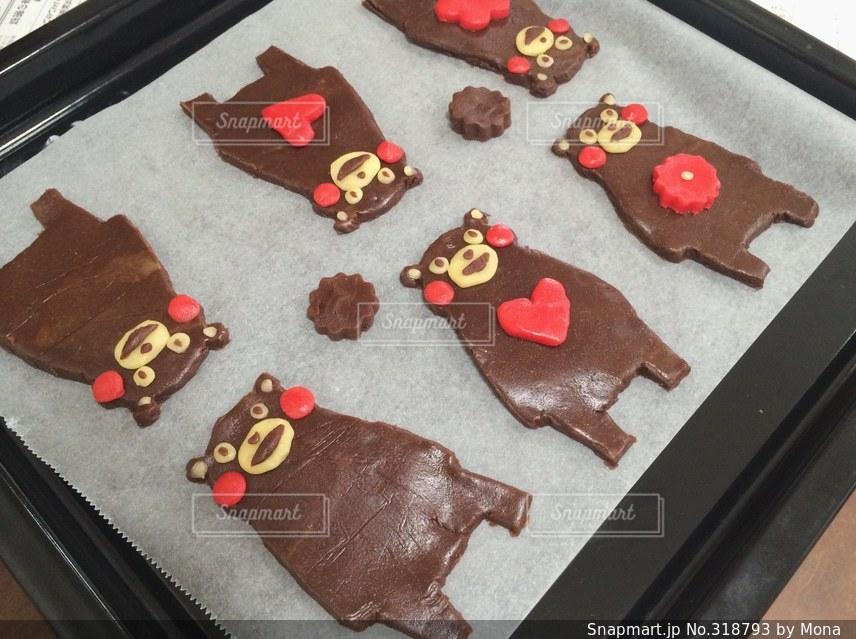 くまモンクッキーの写真・画像素材[318793]