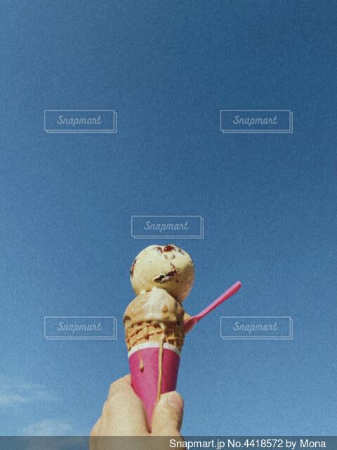 ダブルのアイスの写真・画像素材[4418572]