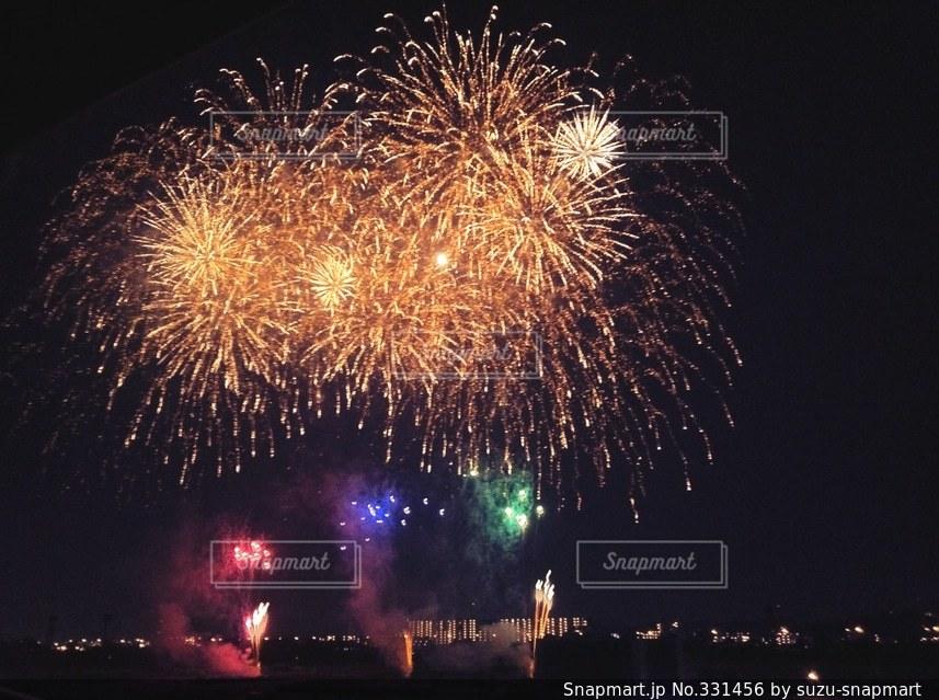 鮮やかな打ち上げ花火の写真・画像素材[331456]