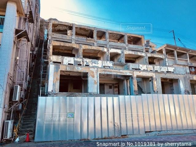 熱海のホテル廃墟の写真・画像素材[1019381]