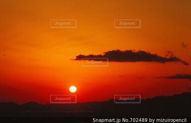 夕陽の写真・画像素材[702489]