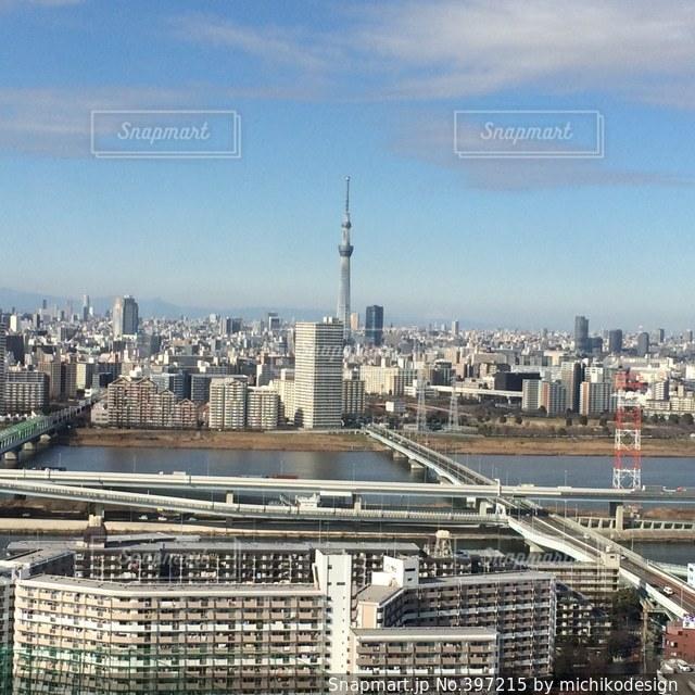 風景,空,建物,雲,スカイツリー,景色,高速道路,電波塔,東京都,町