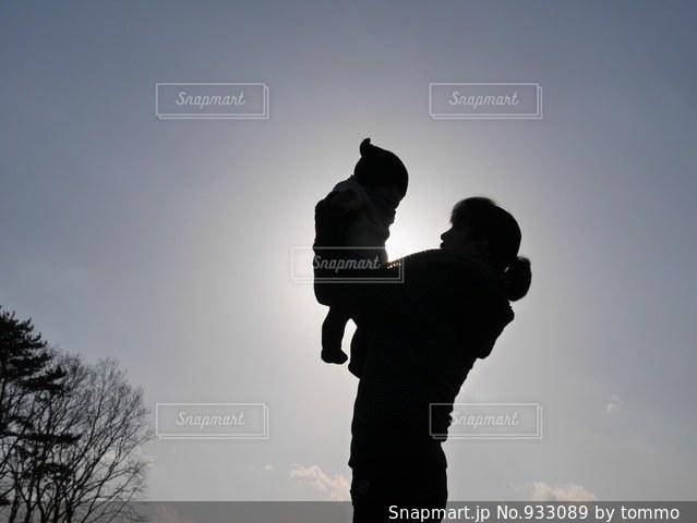 仲良し親子の写真・画像素材[933089]