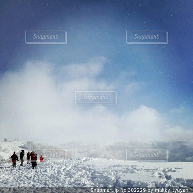 雪山の写真・画像素材[302229]