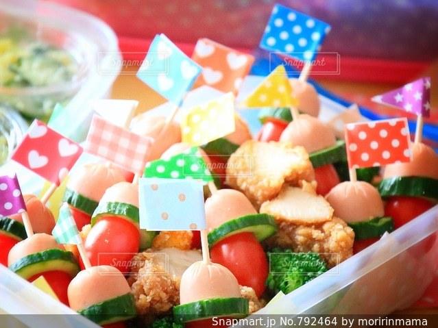 料理の種類でいっぱいのボックスの写真・画像素材[792464]