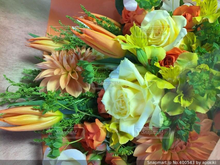 春,花束,フラワー,バラ,チューリップ,オレンジ,プレゼント,薔薇,ブーケ,イエロー,ホワイト,ダリア,プロポーズ,告白