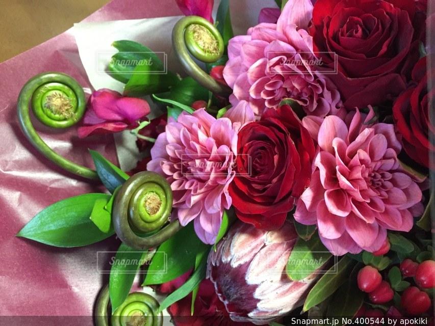 春,ピンク,赤,花束,フラワー,バラ,プレゼント,薔薇,ブーケ,ダリア,プロポーズ,告白
