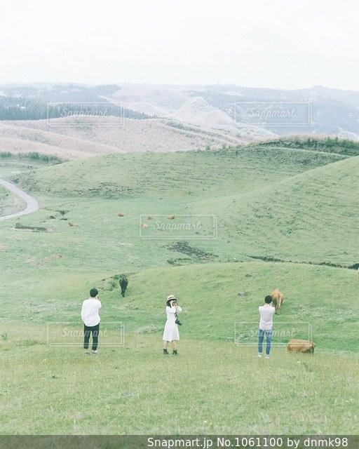 新緑の阿蘇の写真・画像素材[1061100]