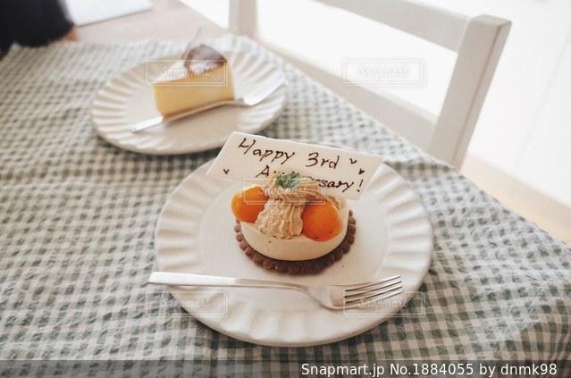 記念日ケーキの写真・画像素材[1884055]