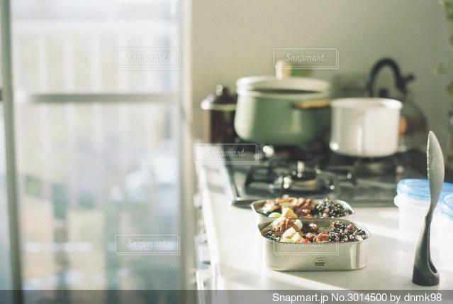 わたしたちのお弁当の写真・画像素材[3014500]