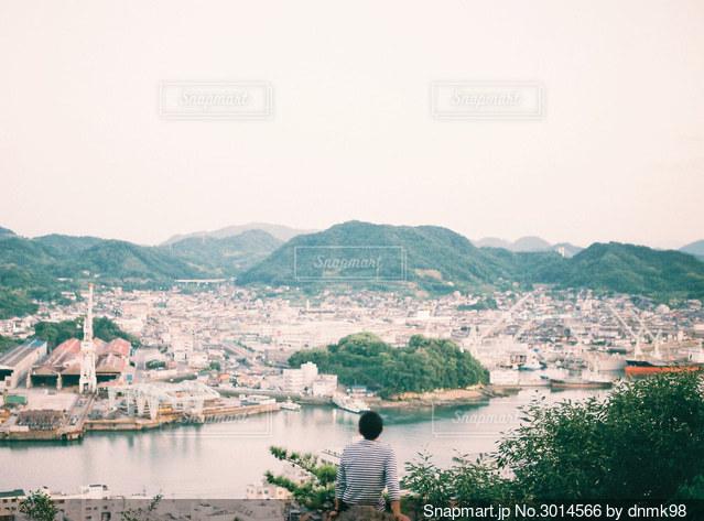 尾道の街を見下ろしての写真・画像素材[3014566]