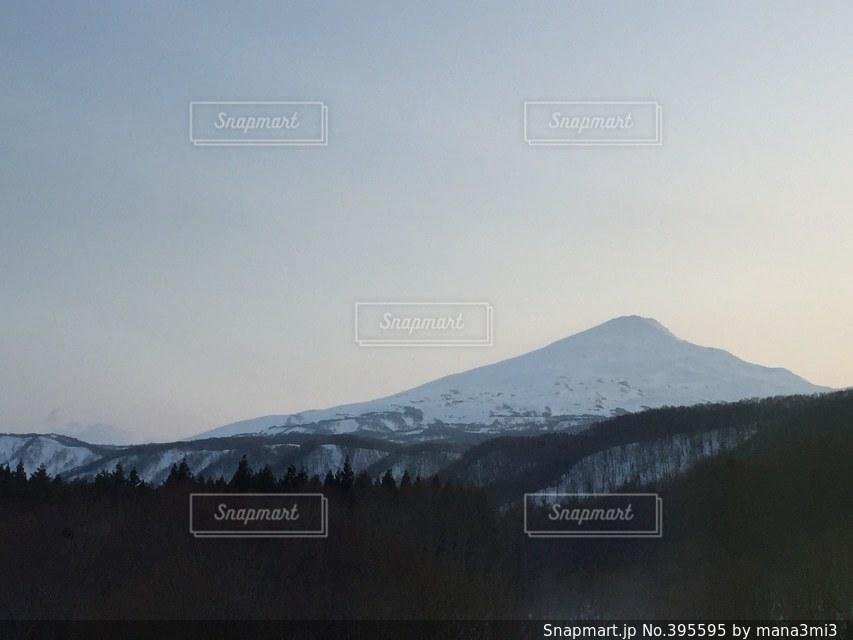 冬,雪,山,鳥海山,秋田,フォレスタ鳥海