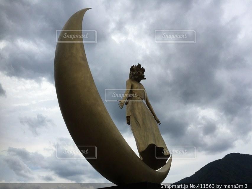月の女神の写真・画像素材[411563]