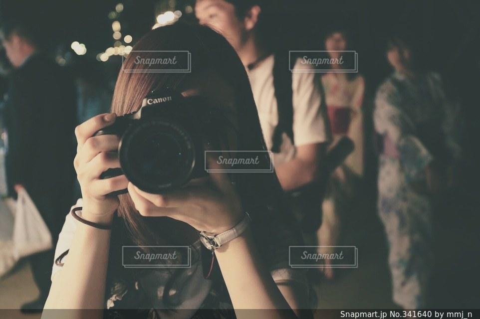 カメラ女子の写真・画像素材[341640]