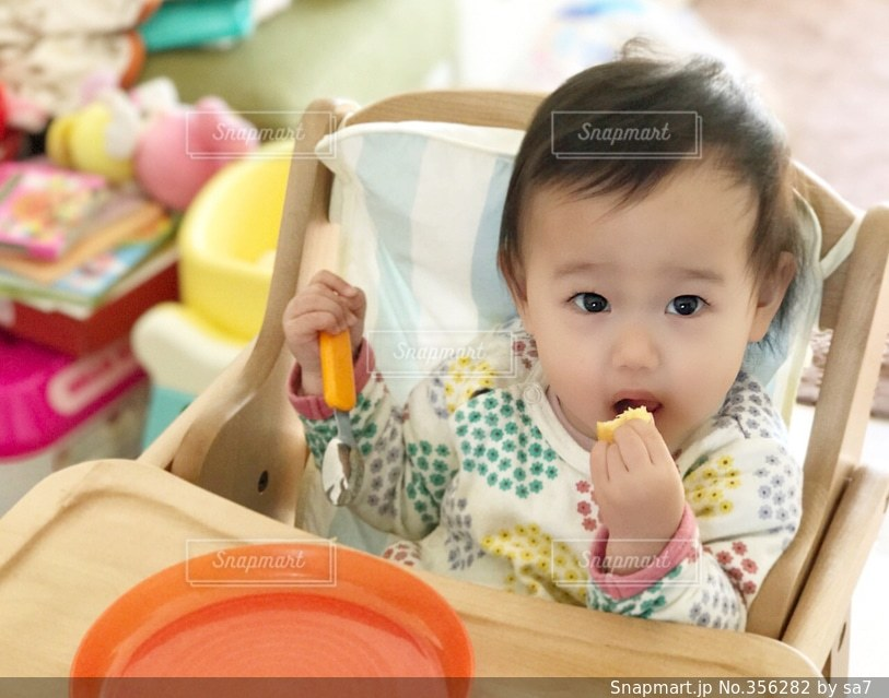 食事,子供,食べる,娘